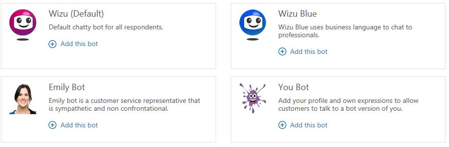Wizu Bot Selection